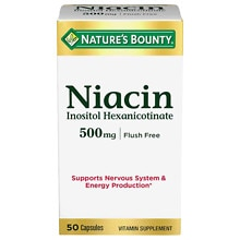 Flush Free Niacin 500 mg Dietary Supplement Capsules