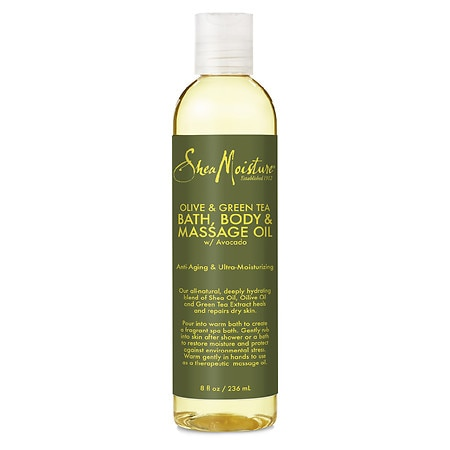 Shea Moisture Bath Body & Massage Oil, Olive & Green Tea