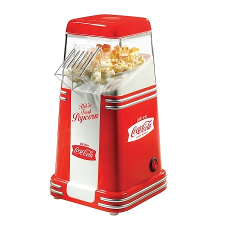 Nostalgia Electrics RHP310COKE Coca-Cola Series Mini Hot Air Popcorn Popper