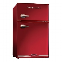 Nostalgia Electrics RRF325HNRED Retro Series 3.1-Cubic Foot Compact Refrigerator Freezer Red