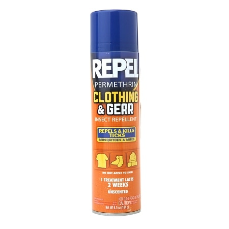 Repel Permethrin Clothing & Gear Insect Repellent Aerosol