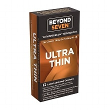 Beyond Seven Sheerlon Natural Rubber Latex Condoms, Lightly Lubricated