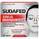 Sudafed 24 Hour Nasal Decongestant Tablets
