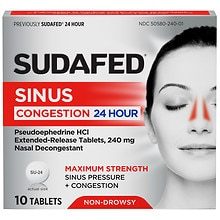 24 Hour Nasal Decongestant Tablets