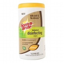 Scotch-Brite Botanical Disinfecting Wipes Lemongrass