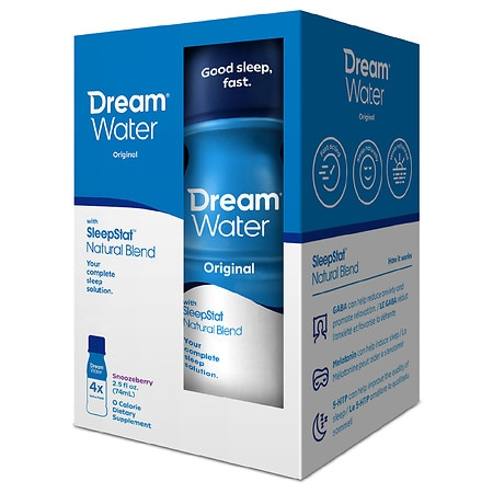 Dream Water Zero Calorie Sleep & Relaxation Shot Snoozeberry, 4 pk