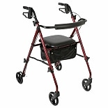 Walgreens Rollator Ultra-Light Weight Burgandy
