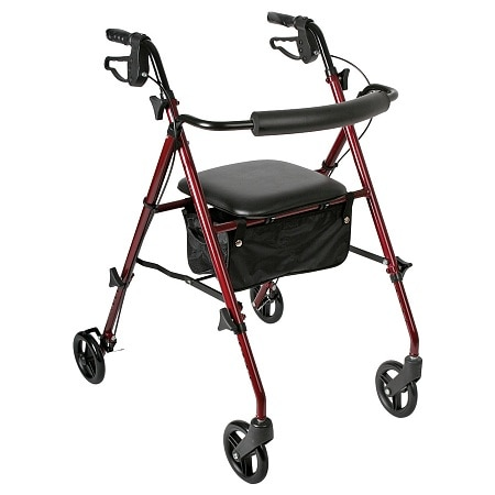 Walgreens Rollator Ultra-Light Weight Burgundy