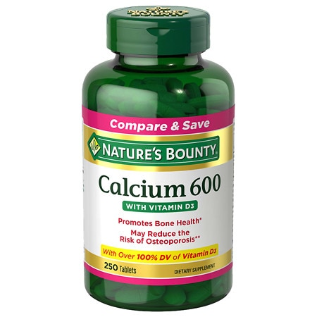 Nature's Bounty Calcium 600 with Vitamin D, Tablets