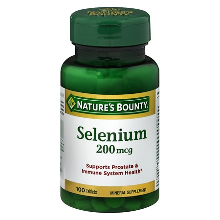 Nature's Bounty Selenium, 200 mcg Tablets.