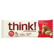 Think Thin Protein Bar Chunky Peanut Butter,2.10 oz Bars