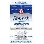 Refresh Optive Advanced Lubricant Eye Drops 0.66 fl oz (2 x 0.33 fl oz)