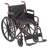 Drive Medical Rebel Wheelchair, 18 inch Flame Red