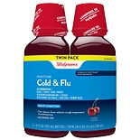 Walgreens Multi-Symptom Nighttime Cold & Flu Relief Liquid 2 Pack Cherry