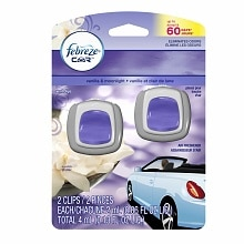 Febreze Car Vent Clips Air Freshener Vanilla & Moonlight