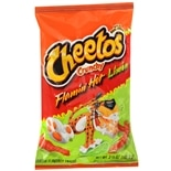 Cheetos Crunchy Flamin Hot Limon