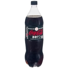 Coke Zero Soda 1.25 Liter Bottle