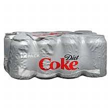 Diet Coke Soda 11.27 oz Cans 12 Pack Cola