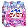Evian Natural Spring Water 6 Pack 500 mL Bottles