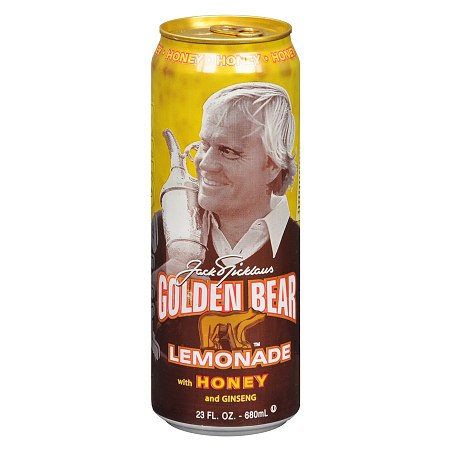 Arizona Jack Nicklaus Golden Bear Lemonade 23 oz Can Honey and Ginseng