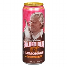 Arizona Jack Nicklaus Golden Bear Lemonade 23 oz Can Strawberry