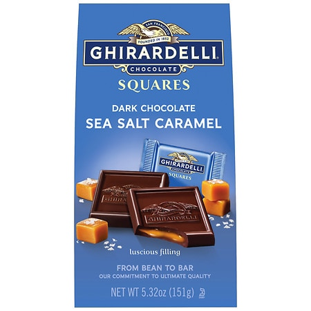 Ghirardelli Chocolate Squares Dark Chocolate & Sea Salt Caramel