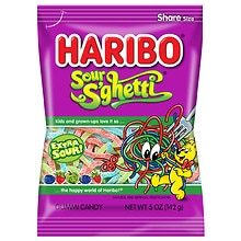 Haribo Sour S'ghetti Gummi Candy Assorted