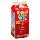 Horizon Organic Whole Milk Half Gallon Whole