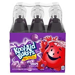 Kool-Aid Bursts Soft Drinks 6.75 oz Bottles 6 Pack Grape