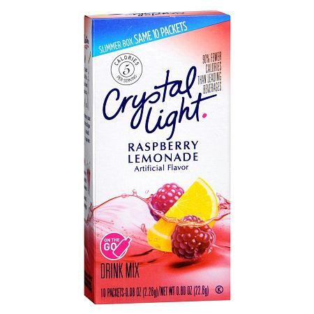 Crystal Light Drink Mix Powder 10 Pack Raspberry Lemonade