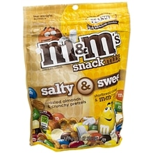 M&M's Salty & Sweet Snack Mix Peanut Milk Chocolate