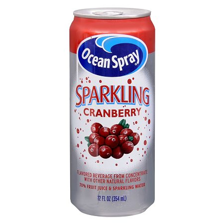 Ocean Spray Sparkling Flavored Beverage 12 oz Can Cranberry