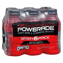Powerade Ion4 Sports Drink 12 oz Bottles 6 Pack Fruit Punch
