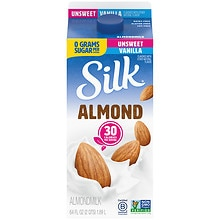 Silk PureAlmond Milk Unsweetened 1/2 Gallon Carton Vanilla