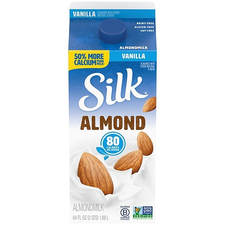 Silk PureAlmond Milk 1/2 Gallon Carton Vanilla