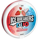 Ice Breakers Duo Fruit + Cool Sugar Free Mints Strawberry