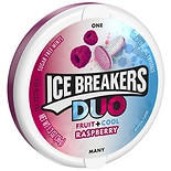 Ice Breakers Duo Fruit + Cool Sugar Free Mints Raspberry