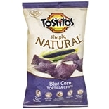 Tostitos Simply Natural Blue Corn Tortilla Chips Blue Restaurant Style