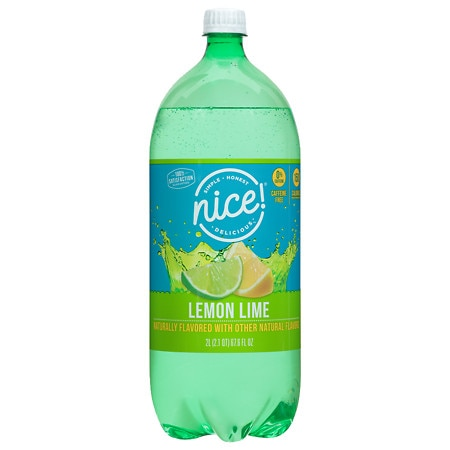 Nice! Caffeine-Free Soda Lemon Lime