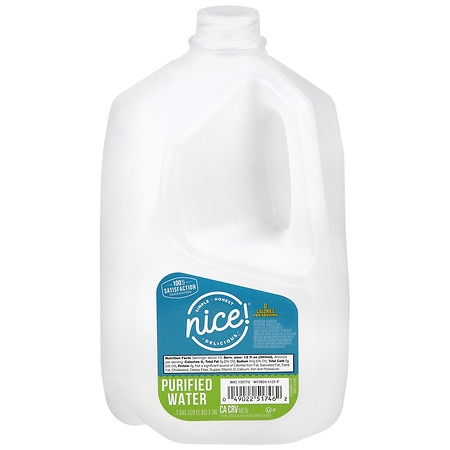 Nice! Purified Water 1 Gallon Bottle