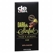 Premium Belgian Dark Chocolate Bar Pear & Almond