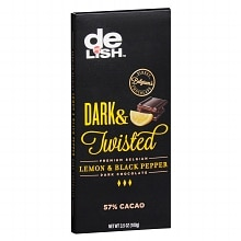 Good & Delish Premium Belgian Dark Chocolate Bar Lemon & Black Pepper