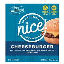 Nice! Frozen Cheeseburger Sandwich
