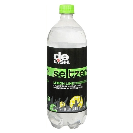 Good & Delish Seltzer 33.8 oz Bottle Lemon Lime