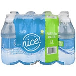 Nice! Purified Water 12 Pack 10 oz Bottles