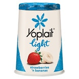 Yoplait Light Fat Free Yogurt Strawberries 'n Bananas