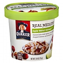 Quaker Real Medleys Oatmeal Apple Walnut