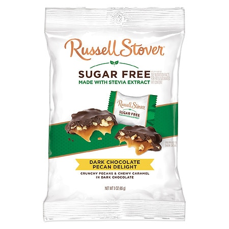 Russell Stover Sugar Free Pecan Delights Dark Chocolate
