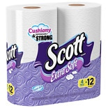 Scott Extra Soft Bath Tissue, Mega Roll, 4 Pack