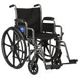 Medline Steel Wheelchair with Swingaway Footrests 16in. Seat Width